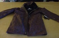 NWT Quiksilver Inyo Gore-Tex Shell Jacket Rust-Plaid Snow Winter Hooded Size XL