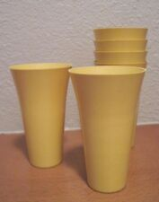 Melamine Plastic  Ice Cream Cone Cup Tumbler Lot of 6 Golden Tan