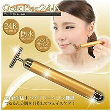 Beauty GOLD BAR 24K GoldenPulse Facial Beauty Massager From Japan