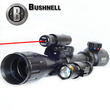 Bushnell Banner 4-16X40 Illuminated Duplex Reticle Rifle Scope +Laser+ LED Torch