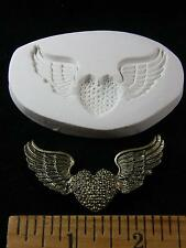 Winged Heart / Flying Heart with Wings Polymer Clay Mold (#MD1473)