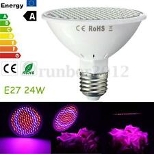 E27 24W 200 LED Plant Grow Light Red+Blue Hydroponic Flower Veg Seed Lamp 110V