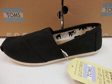 TOMS WOMENS SHOES CLASSIC CANVAS BLACK SIZE 9