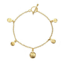 Satya Jewelry NEW! Gold Om, Hamsa, Tree of Life And Lotus Charm Bracelet