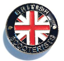 BRITISH SCOOTERIST Union Flag GB MOD Metal Enamel Scooter Bike Rider Badge