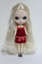 """Takara 12"""" Neo Blythe from factory Nude Doll  Beige curly hair SD105 White skin"""