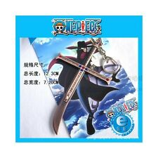 one piece pirates characters Dracul Mihawk swords weapon keychains key chain
