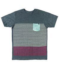 O'Neill Men Outbound Charcoal Gray Chest Pocket SS Knit T-Shirt Tee Sz Medium