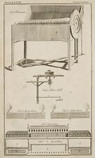 1765 ANTIQUE PRINT ~ HARMONICA ~ GREEN HOUSE ELEVATION PLAN