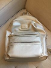 Honest Company Black Diaper City Backpack Vegan Leather Gold
