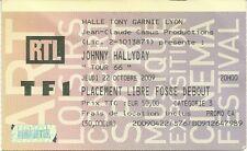 RARE / TICKET DE CONCERT LIVE - JOHNNY HALLYDAY A LYON 2009 - HALLE TONY GARNIER