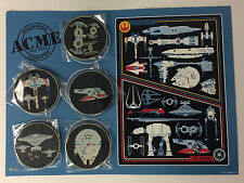 Disney HK Acme HotArt STAR WARS Rebellion Empire Transports 5 Pin & Litho LE 250