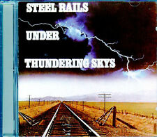 STEEL RAILS UNDER THUNDERING SKYS SKIES: TRAIN SOUNDS WITH THUNDERSTORM CD! RARE