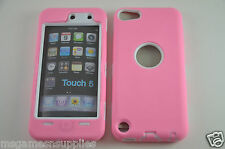 Pink Hybrid Plastic &Gel ULTRA Protective Armor Case &Screen Guard iPod Touch 5