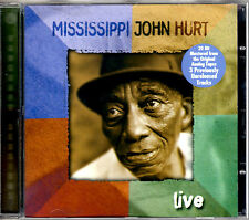 MISSISSIPI JOHN HURT live CD Vanguard 2002 w/ 3 UNRELEASED TRACKS Blues