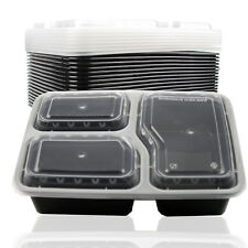 NEW 10x Reusable Microwave Safe Stackable Meal Containers Plastic Food Storage