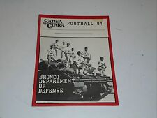 1984 SANTA CLARA COLLEGE FOOTBALL MEDIA GUIDE EX-MINT BOX 29