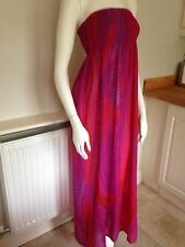 TED BAKER MAXI DRESS Size 10-12, Red/pink/holiday/swimwear Cover Up