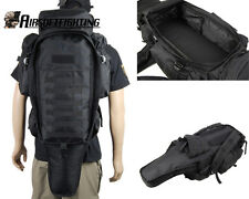 Airsoft Hunting War Game Molle Extended Full Gear Dual Rifle Backpack Hunting BK