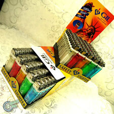 100x Gil Cigarette Cigar Tobacco Disposable Lighter Disposable NOT BIC LIGHTER