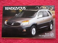 2002 BUICK RENDEZVOUS FACTORY FEATURES / INFO CARD