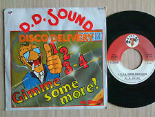 """D.D. SOUND (LABIONDA) - 1,2,3,4, GIMME SOME MORE - 45 GIRI 7"""" ITALY"""