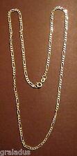 Halskette,Figarocollier,925er Silber, mit Federringverschluß