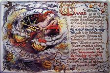 Sternzeichen Waage Blechschild Schild Blech Metall Metal Tin Sign 20 x 30 cm