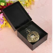 Luxury Black Gift Box For Watch Jewelry Pocket Watch Display Case Box Necklace
