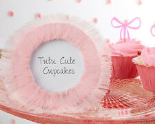 Tutu Cute Pink Tulle Round Photo Frames Baby Shower Favor