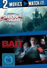 SHARK NIGHT - DAS GRAUEN LAUERT IN DER TIEFE/BAIT -HAIE IM SUPERMARKT 2 DVD NEU