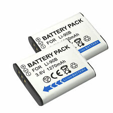 Battery (2 Pack) for Olympus Stylus Tough TG-1 iHS, TG-2 iHS, TG-3, TG-4