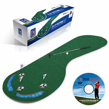 PGA TOUR 3ft x 9ft PUTTING MAT - Massive Golf Aid Christmas Gift + Training DVD