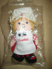 1999 CAMPBELL'S SOUP KID PLUSH BEAN BAG. NEW UNUSED IN BAG & CASE.
