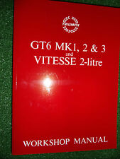Triumph GT6 Mark 1 2 3 MKI MKII MKIII + Vitesse 2-Litre Factory Workshop Manual