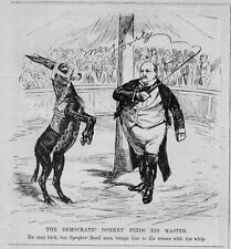 THE DEMOCRATIC DONKEY FINDS HIS MASTER SPEAKER REED USES WHIP WHEN DONKEY KICKS
