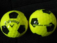 "4 CALLAWAY ""HEX CHROME SOFT"" YELLOW -with ""BLACK TRUVIS"" - ""MINT/PEARL"" Grades."
