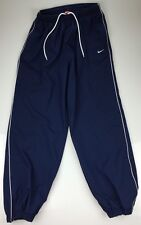 Nike Navy & White Athletic Lined Basketball Pants Men' Size Large Ankle Zip