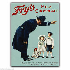 Metal sign wall plaque fry's milk chocolate rétro vintage poster photo c1890's