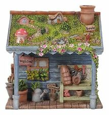 Vivid Arts Miniature World/Fairy Garden Shed /Enchanted Earth / Decorated shed