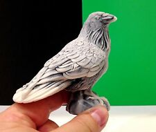 Raven figurine marble chips bird Crow miniature Souvenirs from Russia realistic