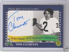 Tom Clements 2003 TK Legacy autograph CFL Hall of Fame Ottawa Rough Riders AUTO