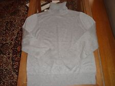 New Women's Banana Republic Grey Silk Blend Turtleneck Sweater Large Petite