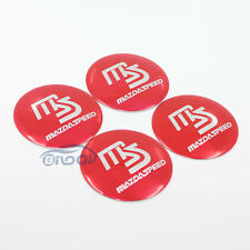 4x MS Logo Wheel Center Hub Cap Emblem Badge decal Sticker For Mazda All Models
