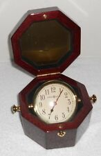 NAUTICAL SHIP'S CLOCK IN WOOD CASE BY HOWARD MILLER
