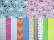"12 sheets 6x6"" Whiz Kids Scrapbook backing Papers - girl & boy"