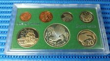 1980 New Zealand Proof Coin Set ( One Dollar Fantail Silver Proof Coin )