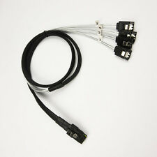 Internal Mini SAS SFF 8087 to 4 Sata HDD Cable Sata3 6Gb SAS Cable 100CM Gray