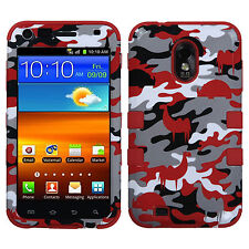 US Cellular Samsung Galaxy S 2 II  IMPACT TUFF HYBRID Case Phone Cover Red Camo