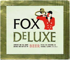 Fox Deluxe Beer 1qt Peter Fox Brewing Co Chicago IL  Tavern Trove
